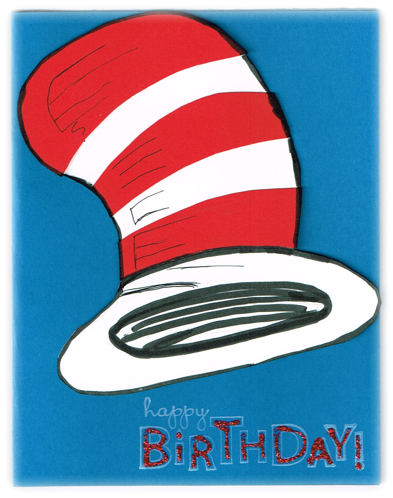 Happy birthday dr seuss stampamazing cat in the hat birthday card bookmarktalkfo Choice Image